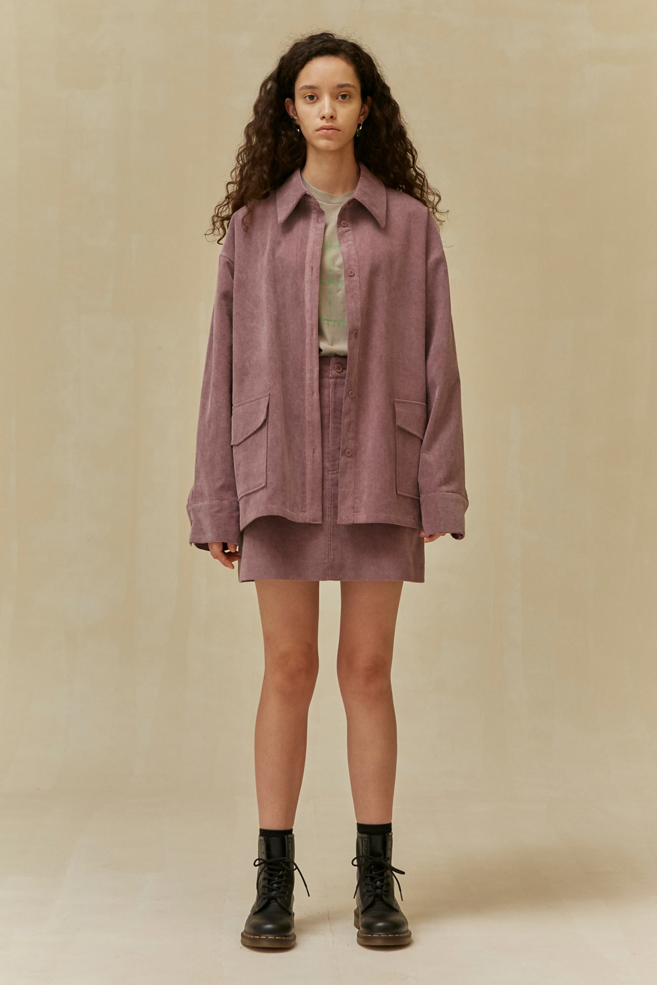 <u>SHOP</u><br>19 WINTER LOCLE Corduroy Shirt - purple