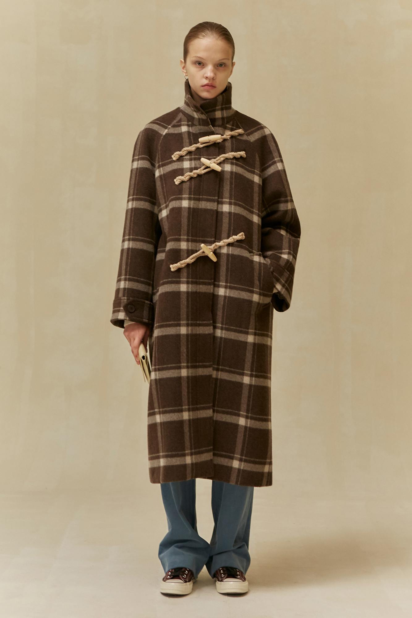 <u>SHOP</u><br>19 WINTER LOCLE Duffle Coat - brown check