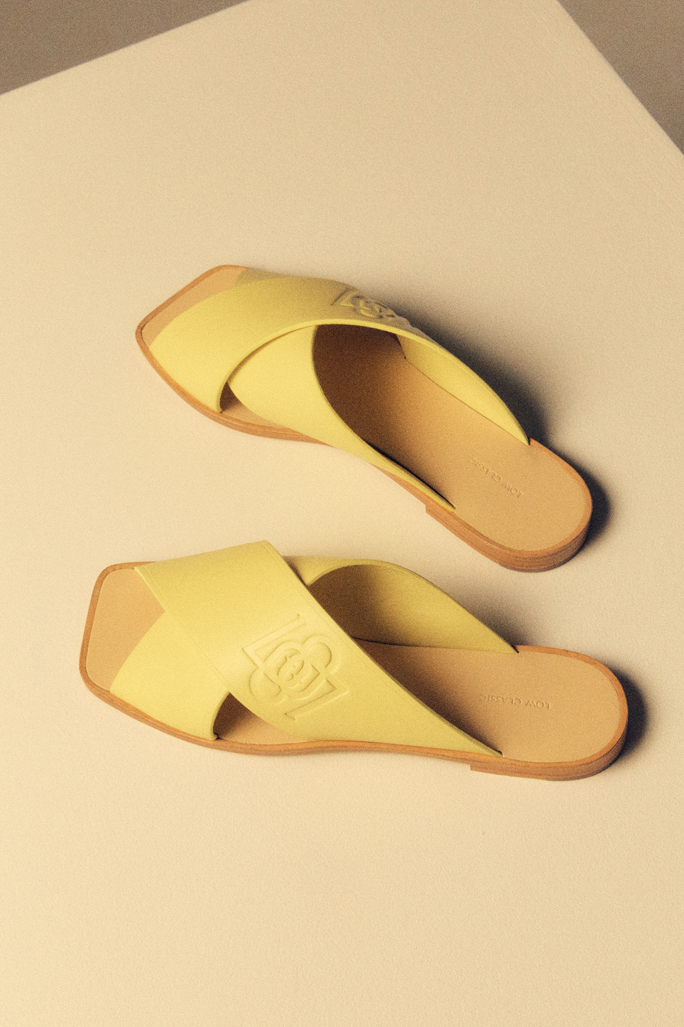 CROSS BAND SANDAL - YELLOW