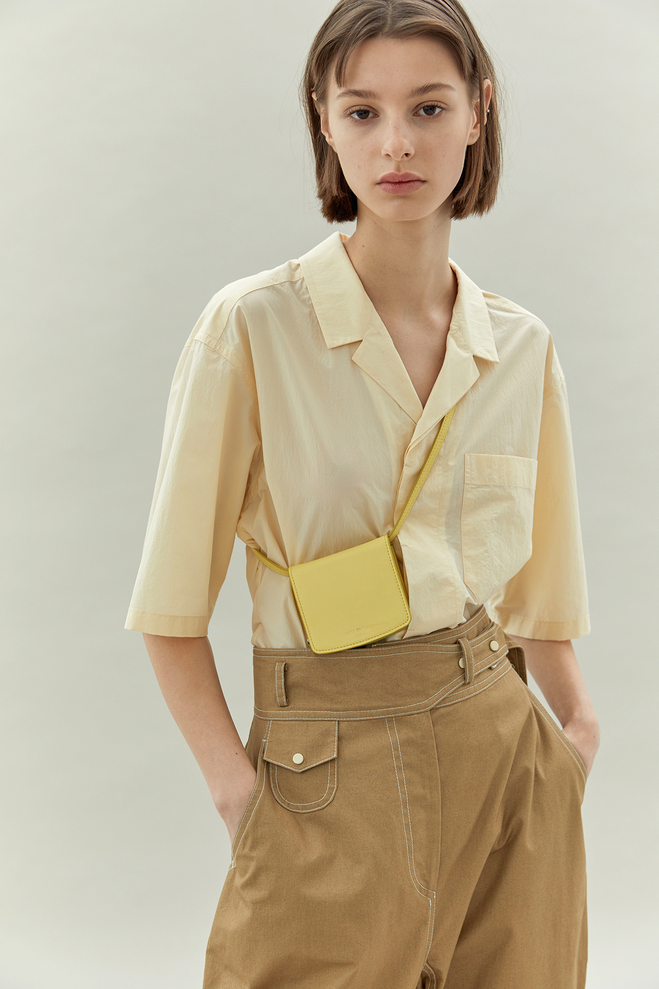 NEW | Open collar shirts - cream
