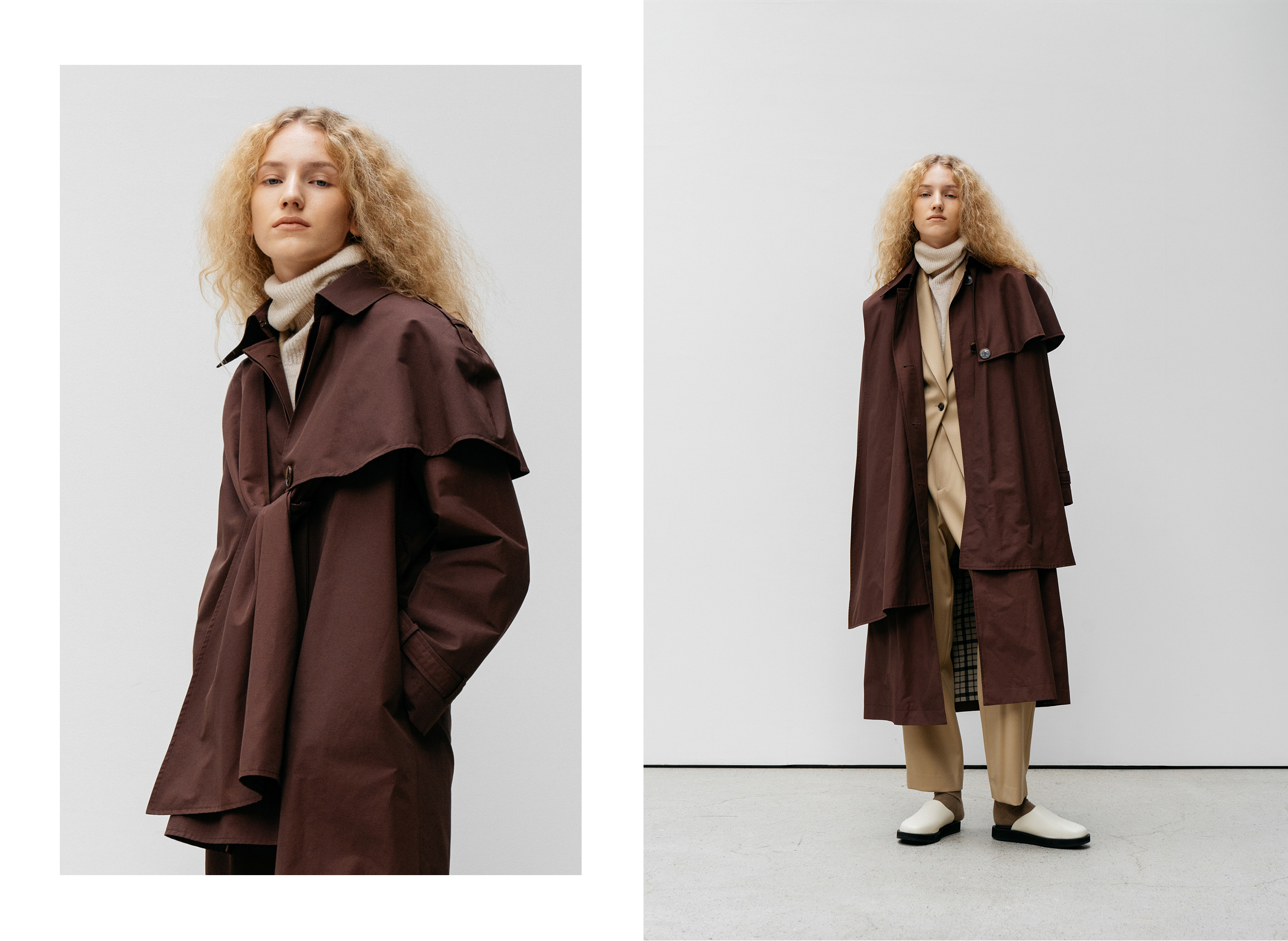 Umber belted trench