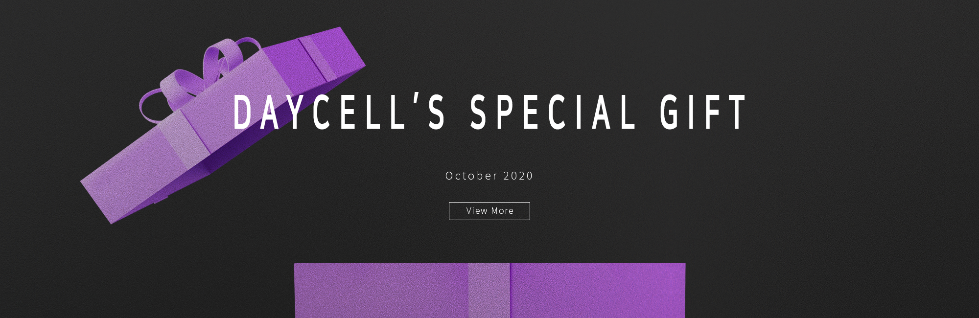 DAYCELL's Special Gift in October